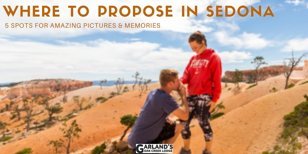 Sedona is a beautiful town–full of blue skies, picturesque rock formations, and beautiful weather. It's the perfect place for a marriage proposal, as well! Here are 5 amazing places to propose in Sedona.